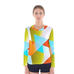 Geometric 03 Orange Women s Long Sleeve T-shirts