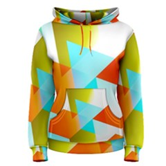 Geometric 03 Orange Women s Pullover Hoodies