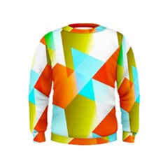 Geometric 03 Orange Boys  Sweatshirts