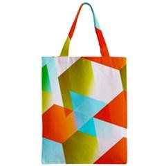 Geometric 03 Orange Zipper Classic Tote Bags