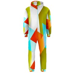 Geometric 03 Orange Hooded Jumpsuit (Men)