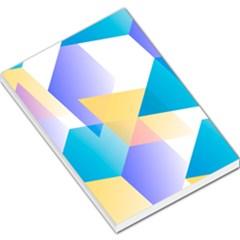 Geometric 03 Blue Large Memo Pads