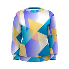 Geometric 03 Blue Women s Sweatshirts