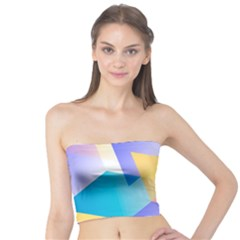Geometric 03 Blue Women s Tube Tops