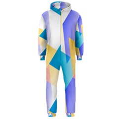 Geometric 03 Blue Hooded Jumpsuit (men)