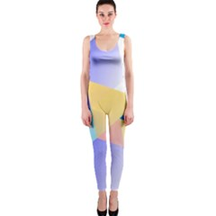 Geometric 03 Blue OnePiece Catsuits