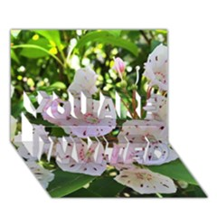 Amazing Garden Flowers 35 YOU ARE INVITED 3D Greeting Card (7x5)