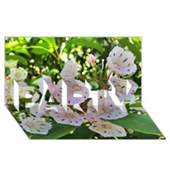 Amazing Garden Flowers 35 PARTY 3D Greeting Card (8x4)