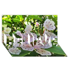 Amazing Garden Flowers 35 Believe 3d Greeting Card (8x4)