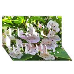 Amazing Garden Flowers 35 Best Wish 3D Greeting Card (8x4)