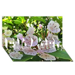 Amazing Garden Flowers 35 Engaged 3d Greeting Card (8x4)