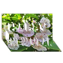 Amazing Garden Flowers 35 Happy New Year 3D Greeting Card (8x4)