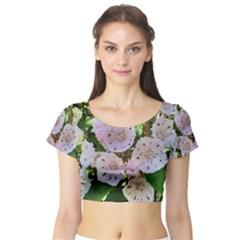 Amazing Garden Flowers 35 Short Sleeve Crop Top