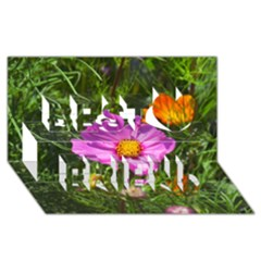 Amazing Garden Flowers 24 Best Friends 3D Greeting Card (8x4)