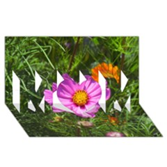 Amazing Garden Flowers 24 MOM 3D Greeting Card (8x4)