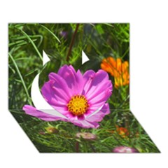 Amazing Garden Flowers 24 Heart 3D Greeting Card (7x5)