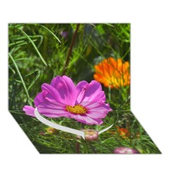 Amazing Garden Flowers 24 Heart Bottom 3d Greeting Card (7x5)