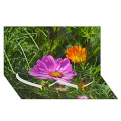 Amazing Garden Flowers 24 Twin Heart Bottom 3d Greeting Card (8x4)