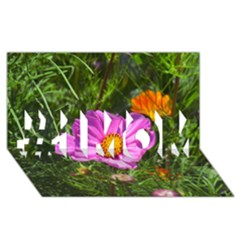 Amazing Garden Flowers 24 #1 MOM 3D Greeting Cards (8x4)