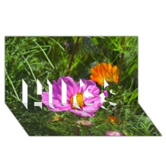 Amazing Garden Flowers 24 Hugs 3d Greeting Card (8x4)