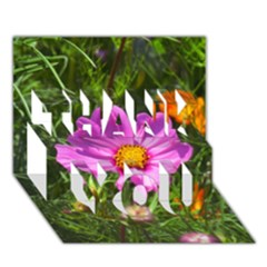Amazing Garden Flowers 24 Thank You 3d Greeting Card (7x5)
