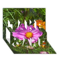 Amazing Garden Flowers 24 Take Care 3d Greeting Card (7x5)