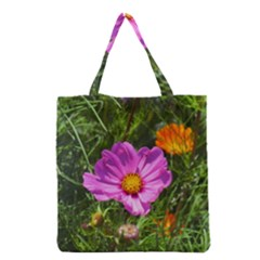 Amazing Garden Flowers 24 Grocery Tote Bags