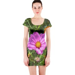 Amazing Garden Flowers 24 Short Sleeve Bodycon Dresses