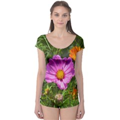 Amazing Garden Flowers 24 Short Sleeve Leotard