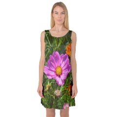 Amazing Garden Flowers 24 Sleeveless Satin Nightdresses