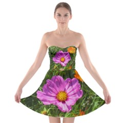 Amazing Garden Flowers 24 Strapless Bra Top Dress