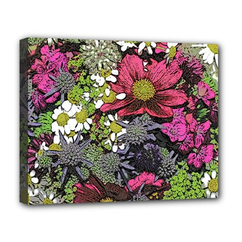 Amazing Garden Flowers 21 Deluxe Canvas 20  X 16