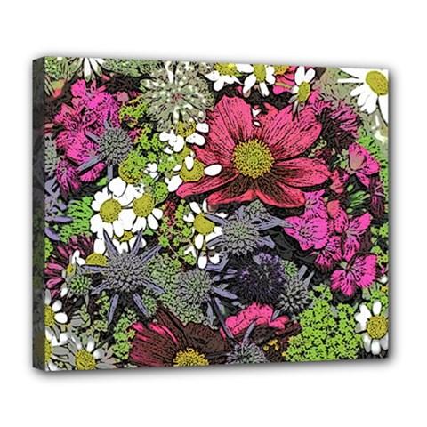 Amazing Garden Flowers 21 Deluxe Canvas 24  X 20