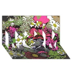 Amazing Garden Flowers 21 Mom 3d Greeting Card (8x4)