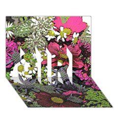 Amazing Garden Flowers 21 Girl 3d Greeting Card (7x5)