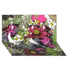 Amazing Garden Flowers 21 Twin Hearts 3d Greeting Card (8x4)