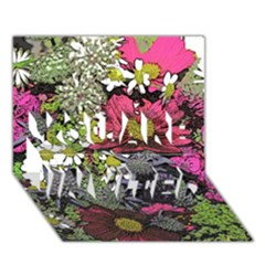 Amazing Garden Flowers 21 YOU ARE INVITED 3D Greeting Card (7x5)