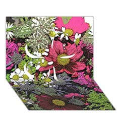 Amazing Garden Flowers 21 Clover 3D Greeting Card (7x5)