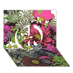 Amazing Garden Flowers 21 Peace Sign 3d Greeting Card (7x5)