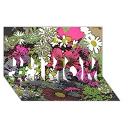Amazing Garden Flowers 21 #1 MOM 3D Greeting Cards (8x4)