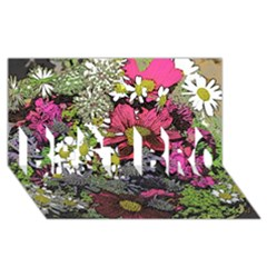 Amazing Garden Flowers 21 Best Bro 3d Greeting Card (8x4)