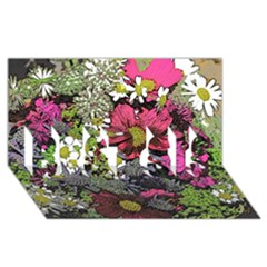 Amazing Garden Flowers 21 BEST SIS 3D Greeting Card (8x4)