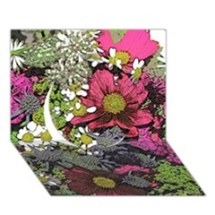 Amazing Garden Flowers 21 Circle 3d Greeting Card (7x5)