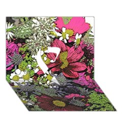 Amazing Garden Flowers 21 Ribbon 3D Greeting Card (7x5)