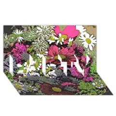 Amazing Garden Flowers 21 PARTY 3D Greeting Card (8x4)