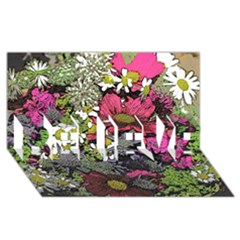 Amazing Garden Flowers 21 BELIEVE 3D Greeting Card (8x4)