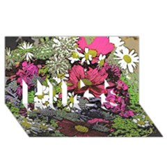 Amazing Garden Flowers 21 Hugs 3d Greeting Card (8x4)