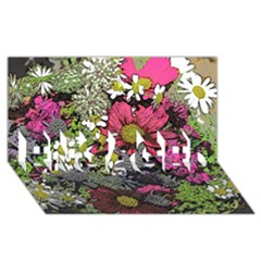 Amazing Garden Flowers 21 ENGAGED 3D Greeting Card (8x4)