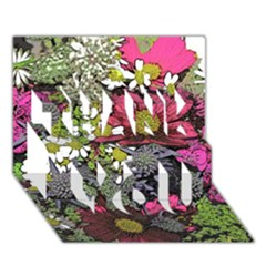 Amazing Garden Flowers 21 Thank You 3d Greeting Card (7x5)