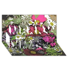 Amazing Garden Flowers 21 Merry Xmas 3D Greeting Card (8x4)